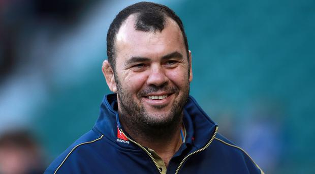 Michael Cheika, pictured, has named Sean McMahon and Ben McCalman in the starting line-up