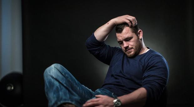 Sidelined: Cian Healy tore his hamstring off the bone during training in September and admits his recovery is frustrating