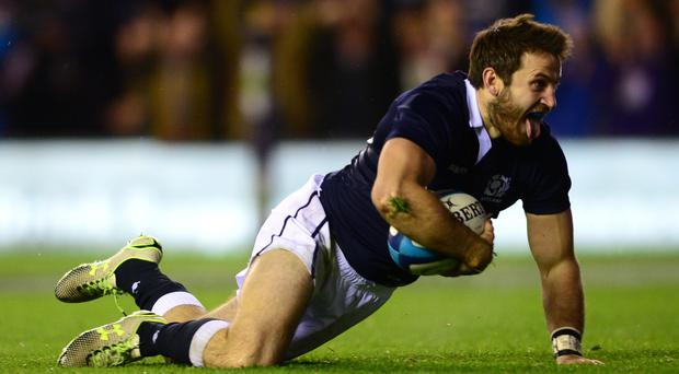 Tommy Seymour scored tries in each of Scotland's three autumn Tests