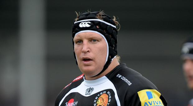 Thomas Waldrom, pictured, scored twice for Exeter as they defeated Northampton