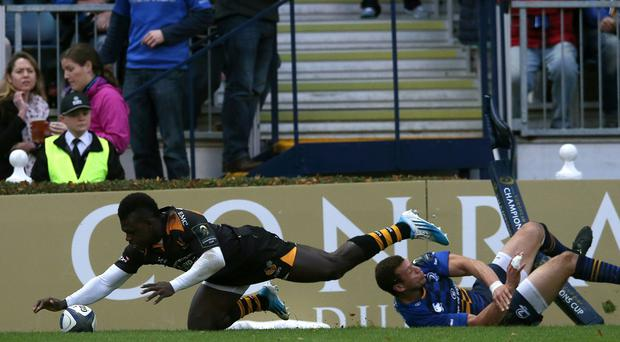 Christian Wade scored a hat-trick of tries as Wasps thrashed London Welsh
