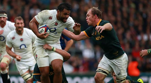 Billy Vunipola, pictured with the ball in hand, is wary of the threat Samoa will pose to England