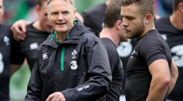 Correct action: Joe Schmidt backed referee JP Doyle
