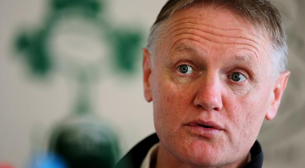Head coach Joe Schmidt, pictured, has played down Ireland's rise to third in the world rankings