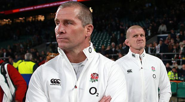Stuart Lancaster, left, has denied that England are in crisis