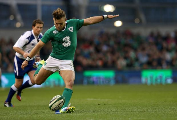 Pumped up: Ian Madigan reckons the crowd at the Aviva stadium will have a big part to play in match against Bath