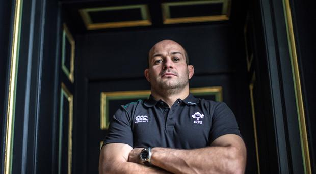 Back on duty: Rory Best is the 34th player to be chosen by Joe Schmidt in Ireland's autumn internationals and third different hooker in three games
