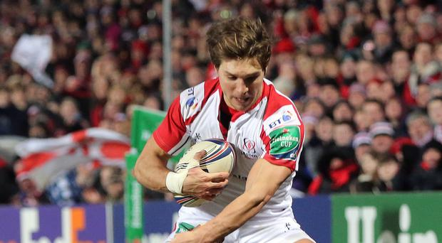 Darren Cave scored two tries for Ulster in their win over Ospreys