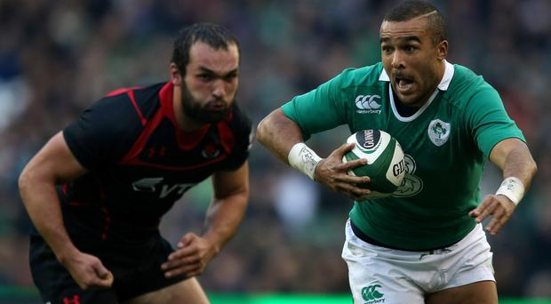 Testing time: Simon Zebo has a chance to shine for Ireland