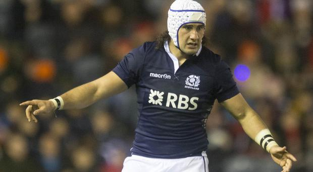 Blair Cowan scored the first of Scotland's five tries