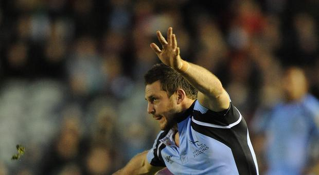 Jimmy Gopperth, pictured playing for Newcastle, missed a last-minute drop goal attempt for Leinster