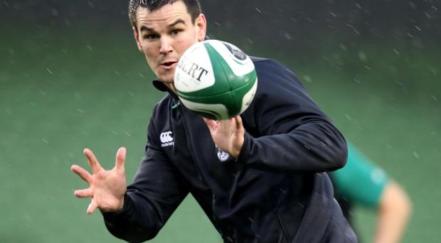In hand: Johnny Sexton is pleased with Ireland's 2014 but believes 2015 can be even better