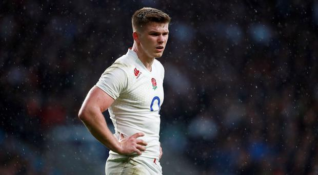 Owen Farrell, pictured, is in Stuart Lancaster's thoughts
