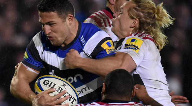 Sam Burgess in action against Harlequins on Friday night