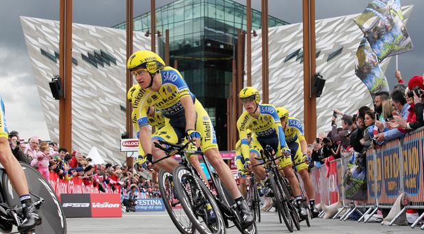 On your bike: the Giro d'Italia is one of many world-class events that have been attracted to Northern Ireland in recent years