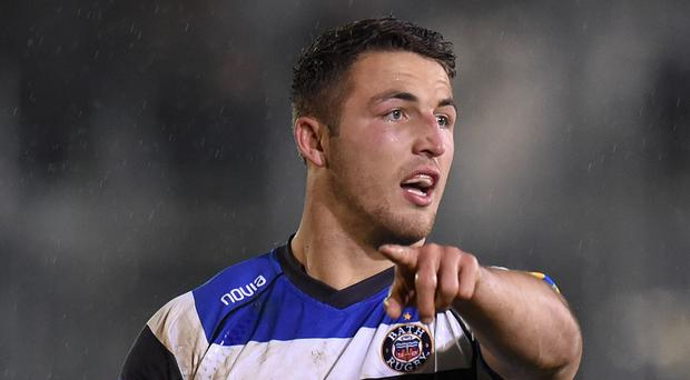 Sam Burgess will line up at inside centre for Bath against Montpellier on Friday night
