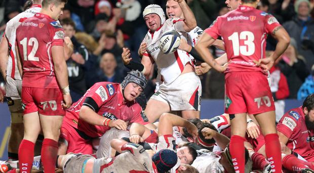 Revenge mission: Rory Best's try made it a bonus-point win for Ulster over Scarlets on Saturday, and now revenge is in the air