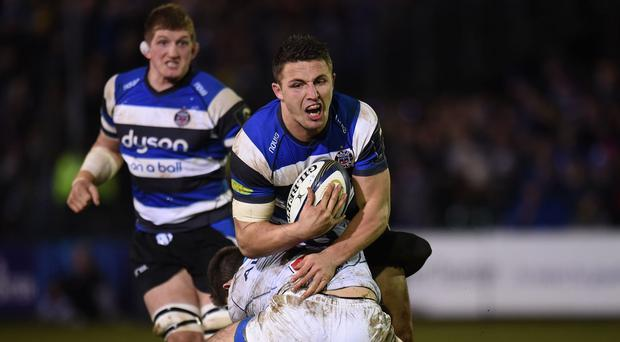 Sam Burgess in action for Bath against Montpellier