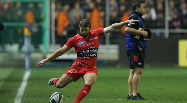 A kicking: Leigh Halfpenny's boot did most of the damage