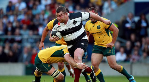 Former England prop Matt Stevens, pictured, helped the Barbarians restore a huge amount of pride in November's narrow loss to Australia
