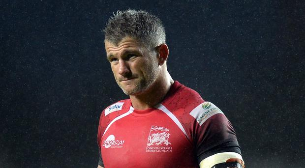 Captain Tom May was sent off as London Welsh suffered yet another defeat