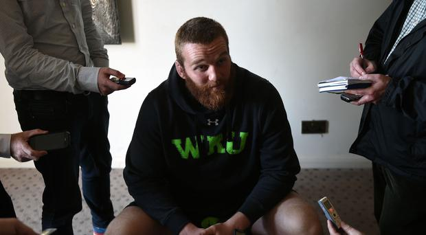 Wales and Scarlets lock Jake Ball, pictured, has signed a dual contract