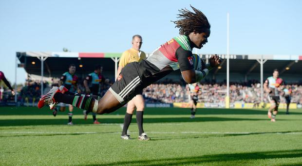 Marland Yarde went over for one of Harlequins' tries