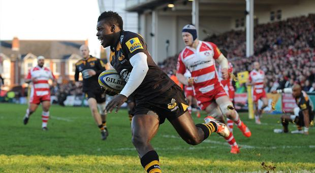 Christian Wade, pictured, provided a nudge to England coach Stuart Lancaster with his man-of-the-match display for Wasps