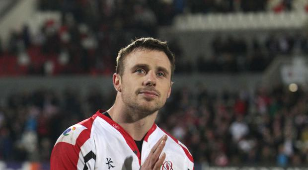Tommy Bowe, pictured, scored what eventually proved the game's decisive try in Ulster's 24-20 victory against Benetton Treviso in the Guinness PRO12