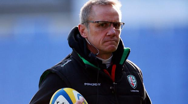 Tom Coventry will succeed Brian Smith, pictured, at London Irish