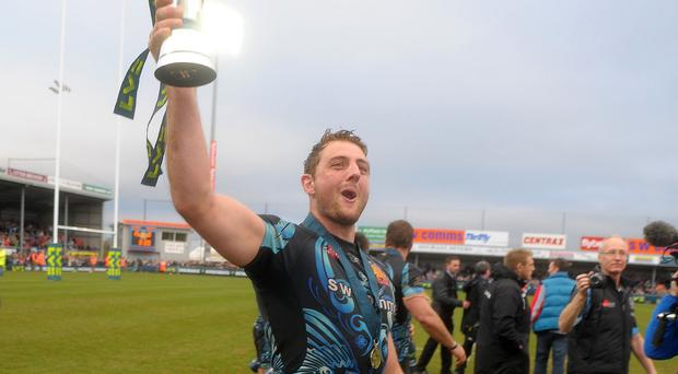 Dean Mumm, pictured, scored for Exeter