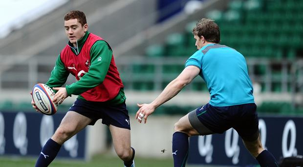 Paddy Jackson, pictured left, will miss Ireland's entire Six Nations campaign with elbow trouble