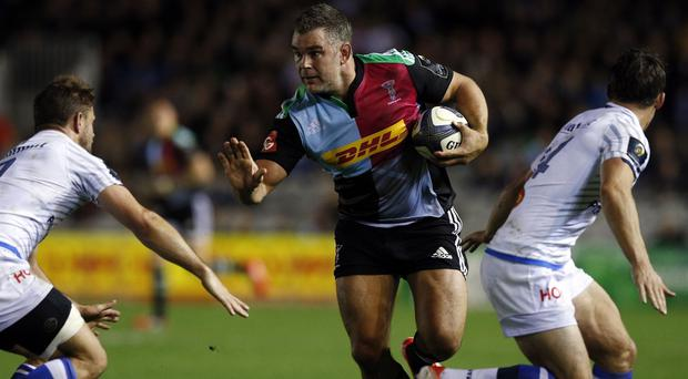 Harlequins veteran Nick Easter, centre, has received his first England call-up since 2011