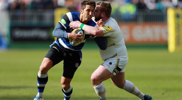 Gavin Henson, left, will leave Bath for Bristol this summer after signing a one-year contract