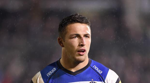 Bath star Sam Burgess, who has recovered from injury and will be among the Bath replacements against Glasgow on Sunday