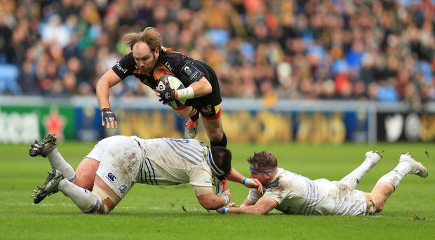 Andy Goode missed a late drop goal attempt for Wasps