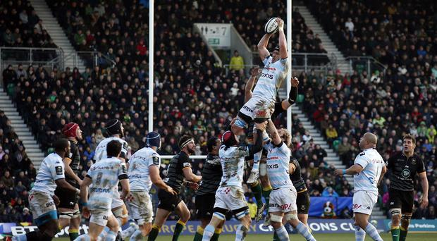 Racing Metro claimed a convincing win against Northampton
