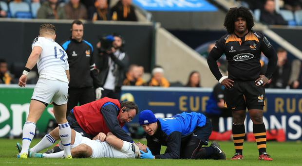 Wasps flanker Ashley Johnson, right, has been banned for three weeks