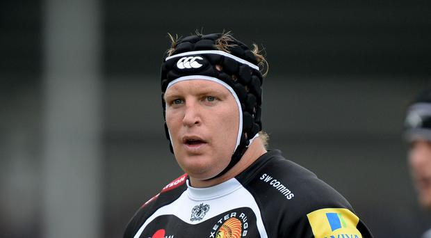 Thomas Waldrom scored two of Exeter's 10 tries as they thrashed London Welsh