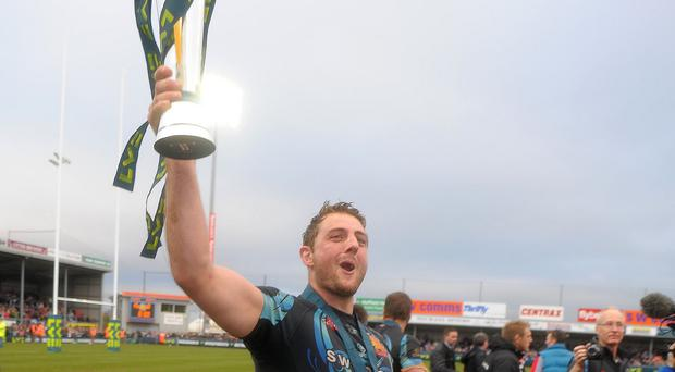 Exeter have signed Ollie Atkins to replace the departing Dean Mumm, pictured