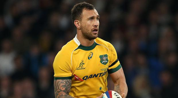 Quade Cooper, pictured, could not kick the Reds to victory