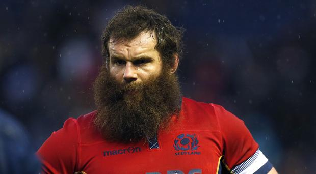 Geoff Cross, pictured before Tuesday's close shave