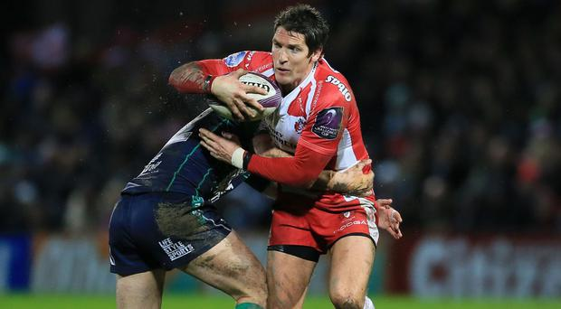 James Hook, right, helped Gloucester secure a 14-7 win over Connacht