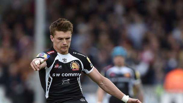 Henry Slade was among the points as Exeter beat Northampton