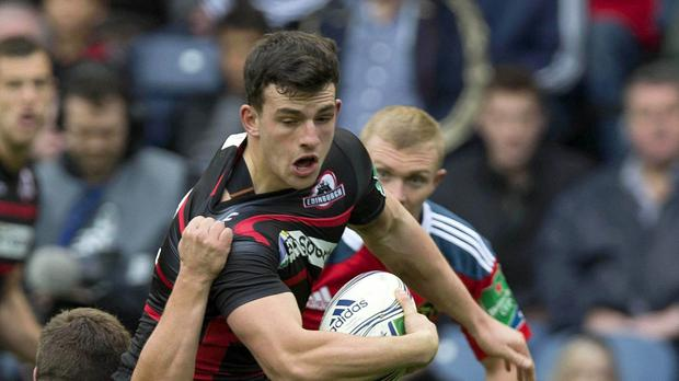 Edinburgh centre Matt Scott will miss the remainder of the season with a shoulder injury