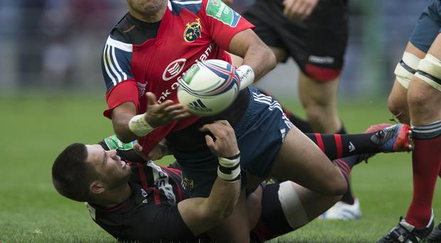 Cornell du Preez, floor, is determined to bring success to Edinburgh