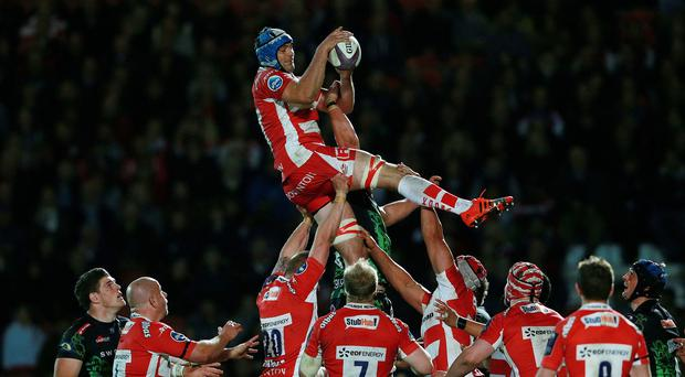 Gloucester have been fined for fielding Mariano Galarza, holding ball, with incorrect registration