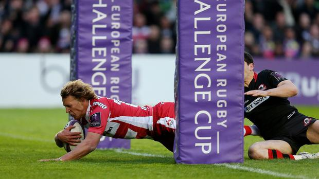 Billy Twelvetrees scored a try as Gloucester won the Challenge Cup