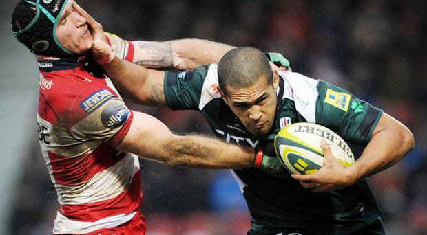 Chris Hala'ufia, right, could face a lengthy ban after his red card in London Welsh's Aviva Premiership defeat at Leicester Tigers