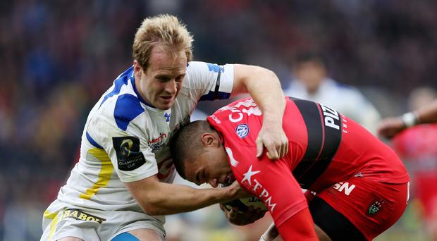 Clermont's Nick Abendanon, pictured left, has been named European player of the year